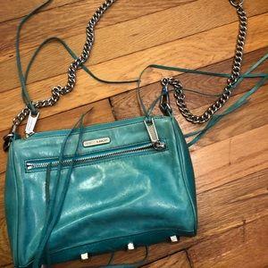 Rebecca minkcoff purse turquoise w/ silver chain